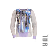 Vertical Abstract Print Top
