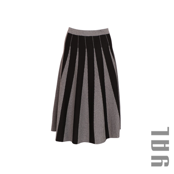 Fit & Flare Vertical Stripe Skirt