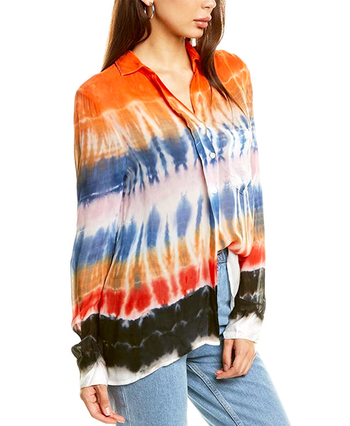 Zoom view for Tie Dye Button Down Shirt