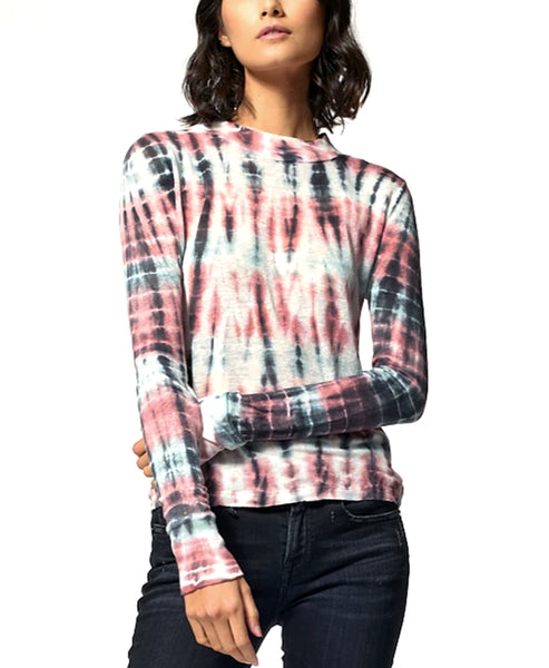 Zoom view for Tie Dye Roll Neck Top