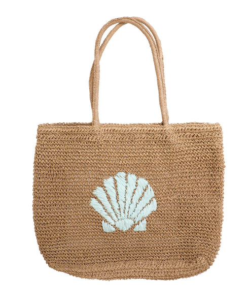 """Shell"" Straw Tote Bag"