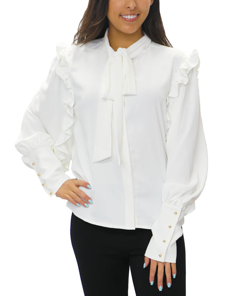 Zoom view for Blouse w/ Ruffles