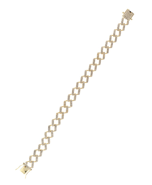 Zoom view for Unisex Chain Link Bracelet w/ Cubic Zirconia