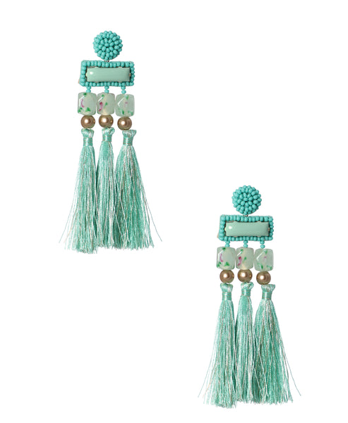 Zoom view for Beaded Earrings w/ Fringe A