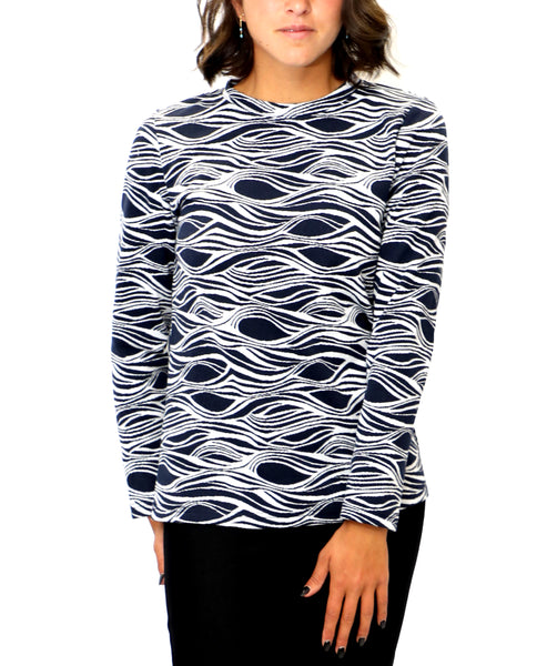 Zoom view for Wavy Pattern Top