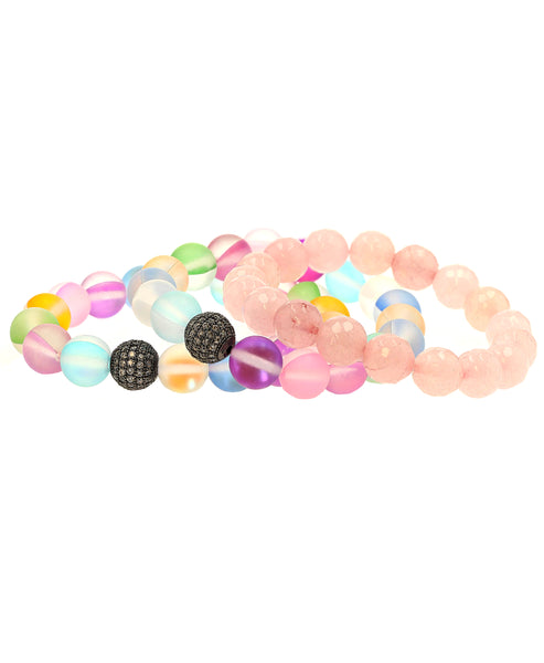 Zoom view for Beaded Set of 3 Stretch Bracelets