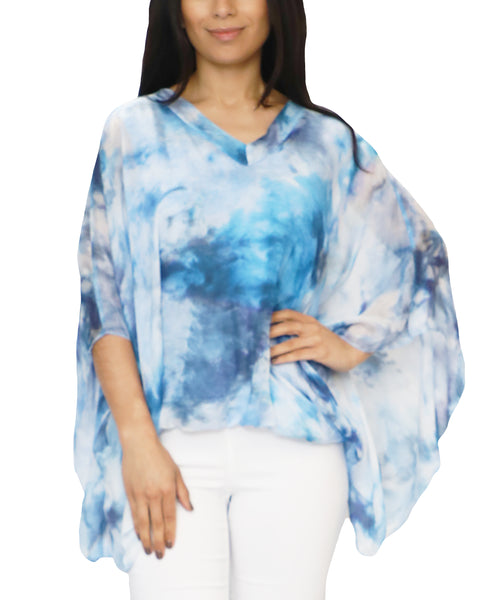 Zoom view for Silk Tie-Dye Print Top
