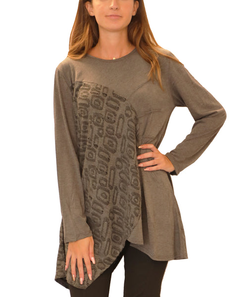 Sharkbite Hem Tunic Top - Fox's