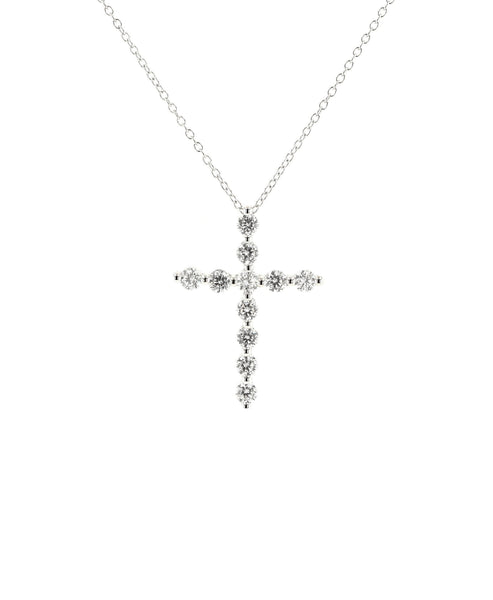 Zoom view for Cross Pendant Necklace w/ Cubic Zirconia
