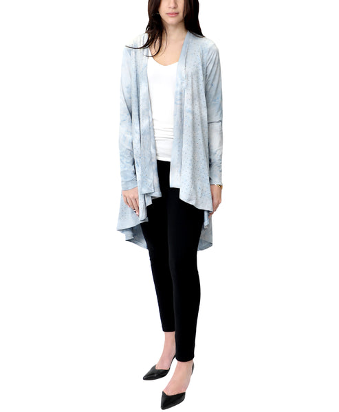 Zoom view for Tie-Dye Draped Cardigan w/ Crystals