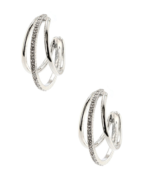 Zoom view for Accented Hoop Earrings