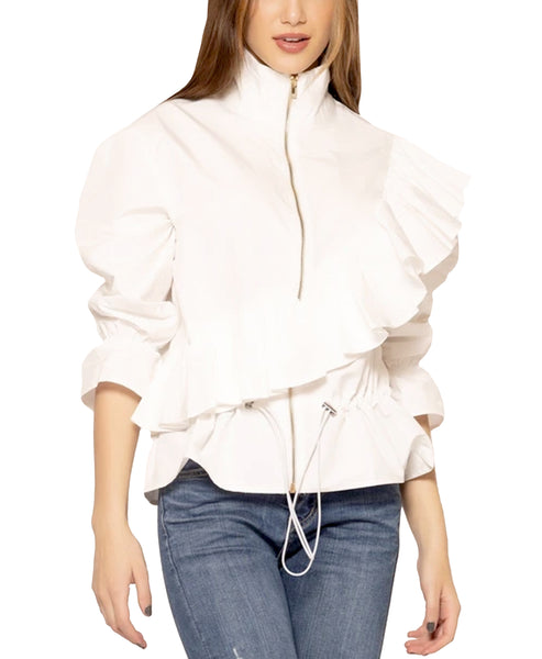 Zoom view for Ruffle Shirt Jacket A