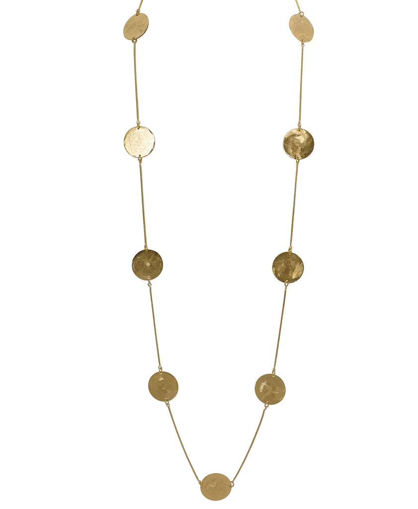 Long Multi Disc Necklace