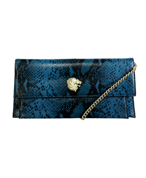 Zoom view for Leather Crossbody w/ Printed Snakeskin
