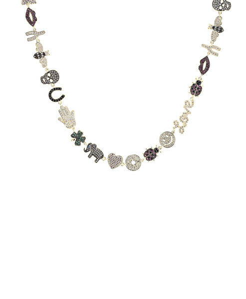 Zoom view for Multi Colored Charm Necklace