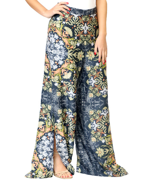 Zoom view for Floral Palazzo Pants