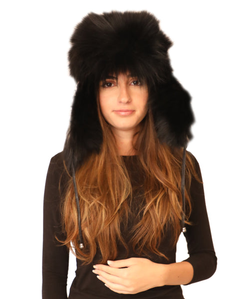 Fur Leather Trapper Hat - Fox's