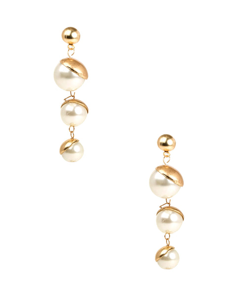 Zoom view for Glass Pearl Drop Earring