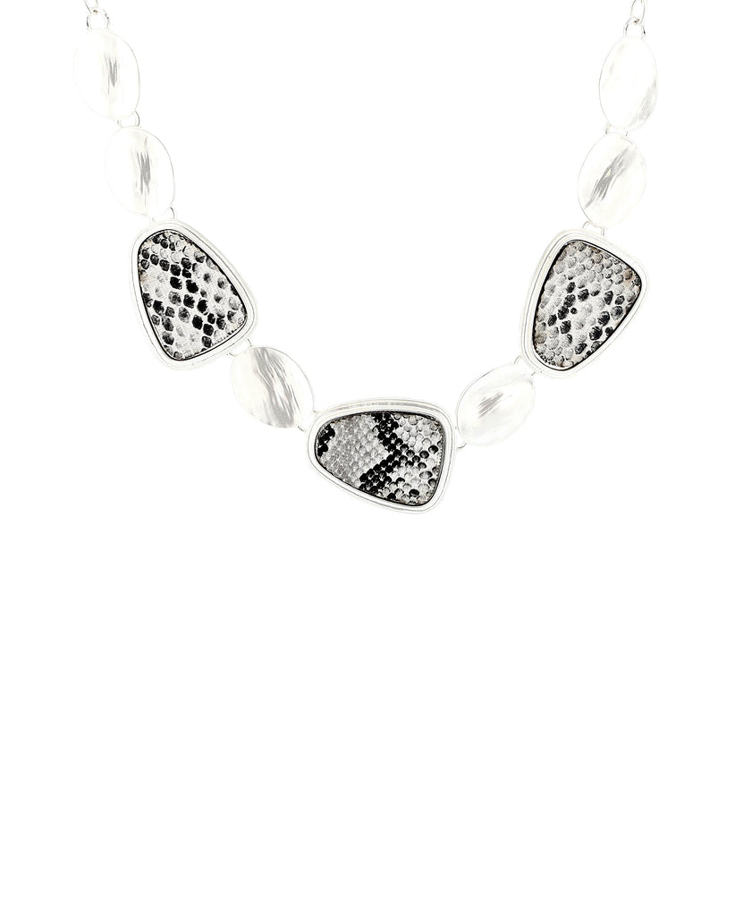 Snake Printed Collar Necklace