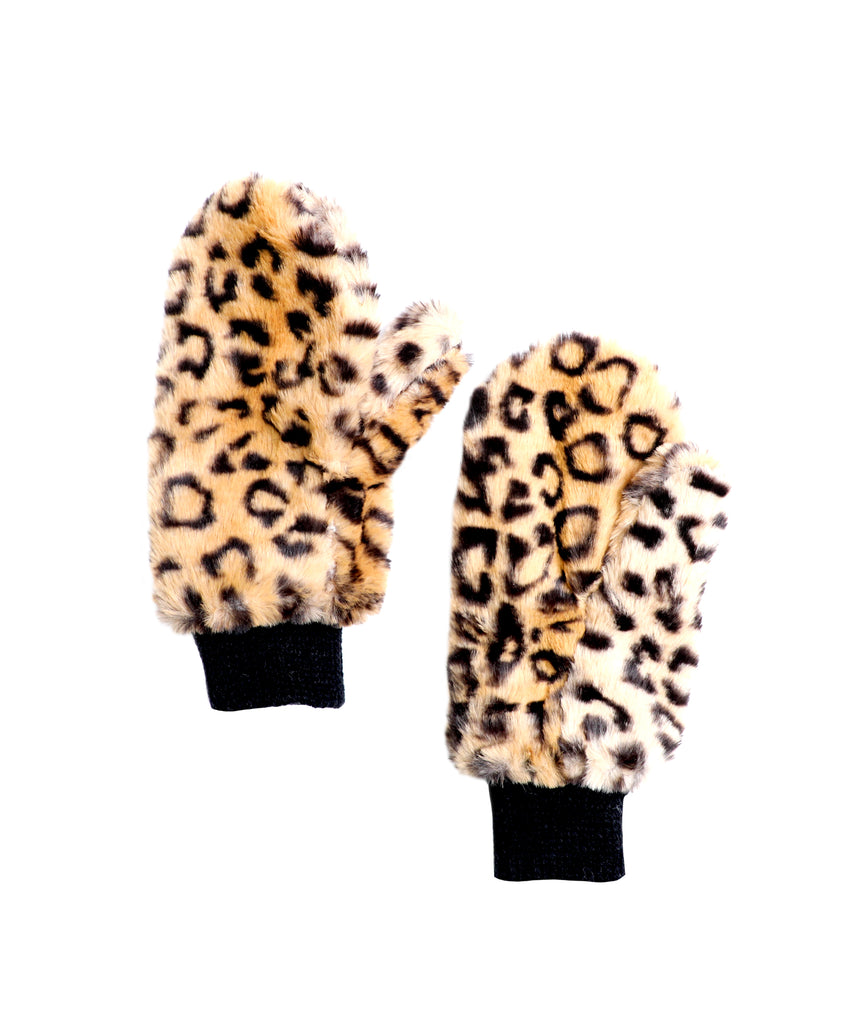 Faux Fur Oversized Mittens