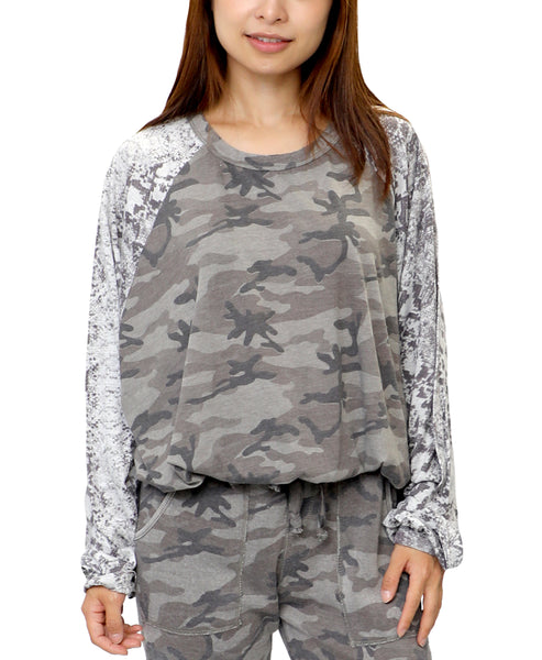 Zoom view for Camo & Snake Print Top A