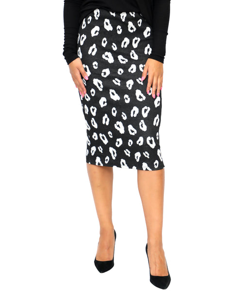 Zoom view for Animal Print Pencil Skirt