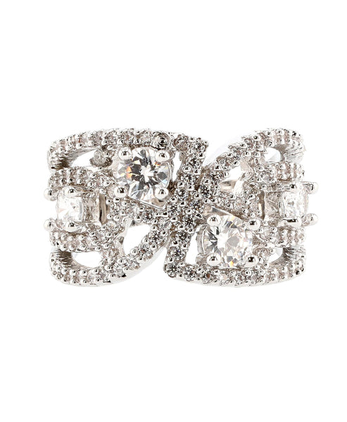 Zoom view for Cubic Zirconia Cut Out Ring A