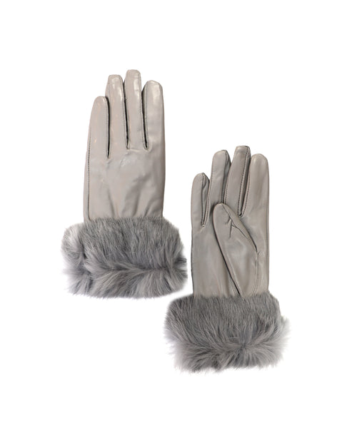 Zoom view for Leather & Fur Gloves A