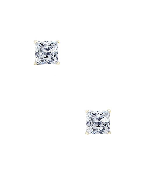 Zoom view for Princess Cut Cubic Zirconia Stud Earrings (0.84 ct. t.w)