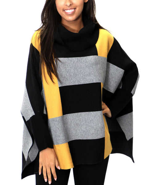 Zoom view for Colorblock Sweater Poncho