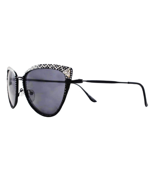 Cat Eye Sunglasses w/ Swarovski Crystals - Fox's