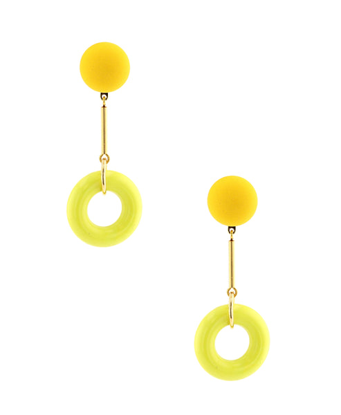 Zoom view for Circle Drop Clip On Earrings - Fox's