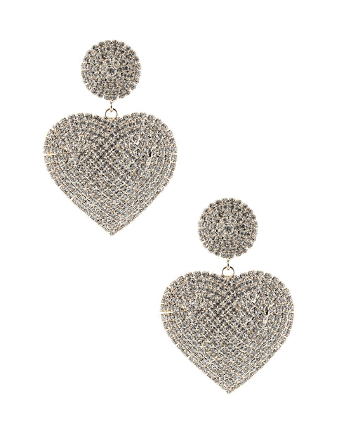 Zoom view for Crystal Heart Earrings