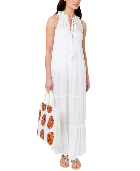 Zoom view for Halter Beach Maxi Dress w/ Silver
