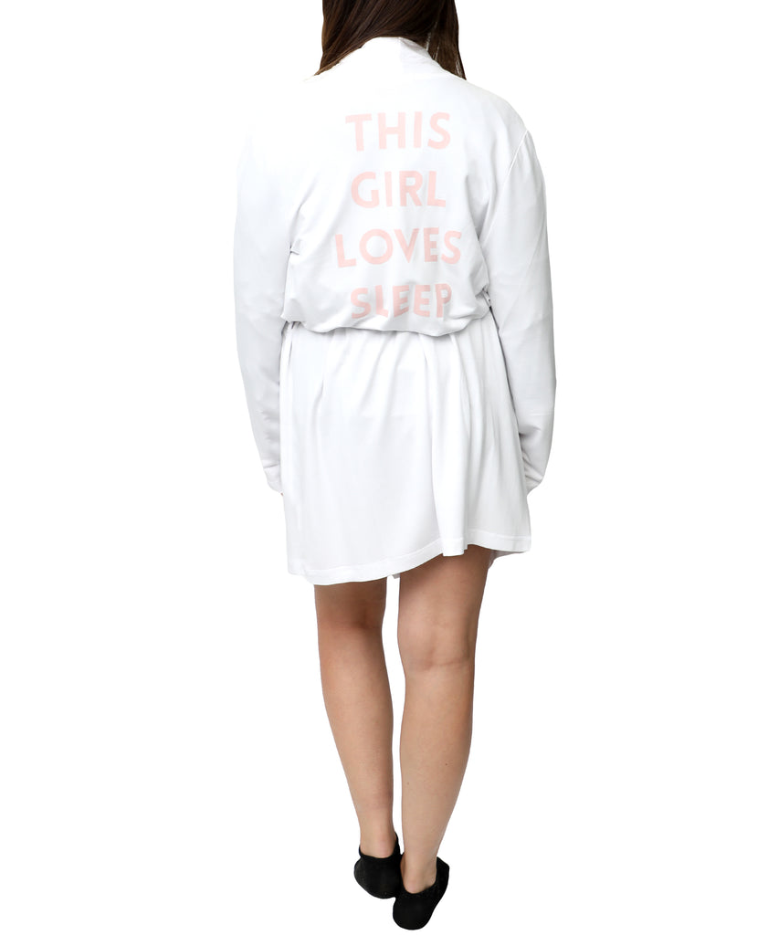 """This Girl Loves Sleep"" Robe"