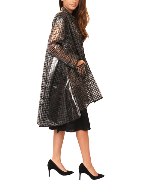 Herringbone Hi-Lo Raincoat