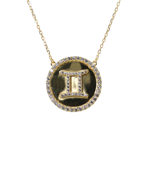 """Gemini"" Zodiac Necklace - Fox's"