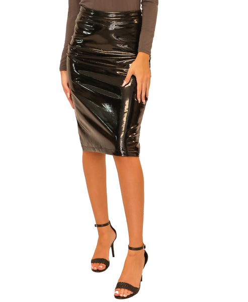 Patent Pencil Skirt - Fox's