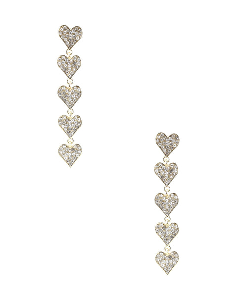 Zoom view for Hearts Drop Earrings A