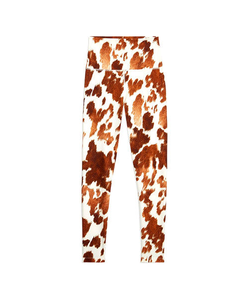 Zoom view for High Waisted Cow Print Leggings