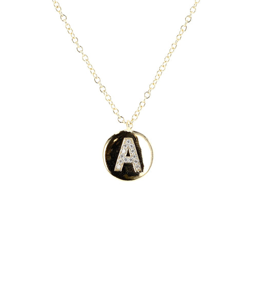 Zoom view for Initial Necklace w/ CZ