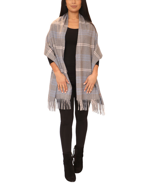 Cashmere Blend Plaid Wrap/Scarf - Fox's