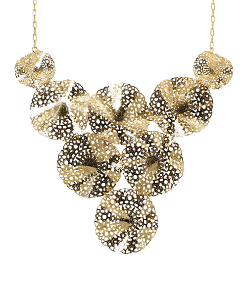 Zoom view for Wavy Disc Statement Necklace