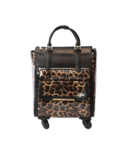 Leopard Rolling Laptop, Tote, Carryall Bag