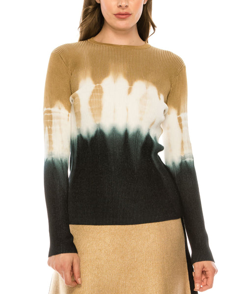 Zoom view for Dip-Dye Ribbed Sweater