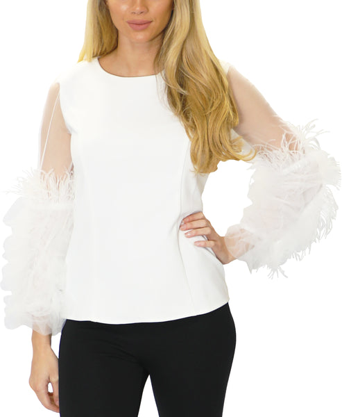 Zoom view for Blouse w/ Feathers