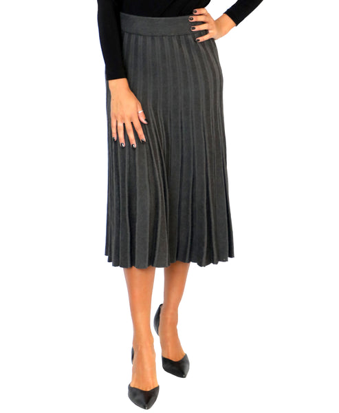 Zoom view for Pleated Knit Skirt