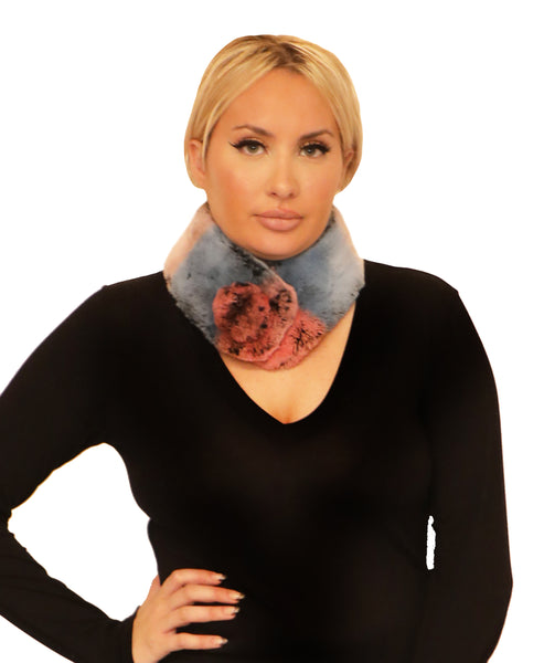 Rex Rabbit Fur Scarf w/ Pom - Fox's