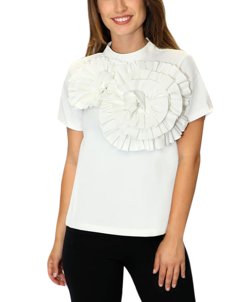 Zoom view for Pleated Floral Top