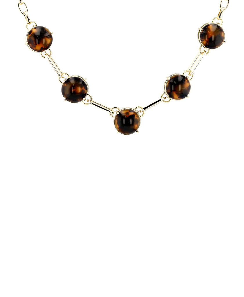 Collar Necklace w/ Resin Accents